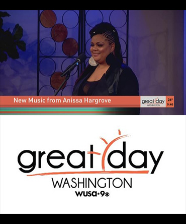 Anissa Hargrove performs Never Give Up on Great Day Washington
